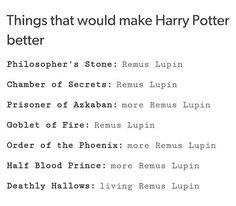 Yes Bit severus is awesome to. More remus and severus scenes.