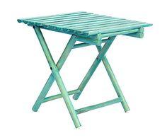 Tavolino pieghevole in pino Tawang azzurro, 45x45x45 cm