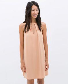 ZARA - NEW THIS WEEK - V-NECK DRESS