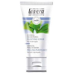 Purifying Scrub - Ginkgo & Jojoba Pearls Lavera Skin Care 1.6 oz LIquid by Lavera Skin Care. $19.00. An organic purifying face scrub. Purifying Scrub - Ginkgo Jojoba Pearls by Lavera Skin Care 1.6 oz LIquid Purifying Scrub - Ginkgo Jojoba Pearls 1.6 oz LIquid For all skin types With Ginkgo and Jojoba Pearls Deep pore cleansing for visibly refined skin With organic plant extracts from our own production This product is certified Vegan Ingredients Listing Water (Aqua) Glyc...