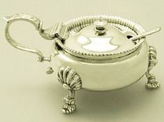 An exceptional, fine and impressive large vintage English sterling silver mustard pot; an addition to our silver cruets / condiments collection http://www.acsilver.co.uk/shop/pc/Sterling-Silver-Mustard-Pot-Vintage-1948-51p4606.htm
