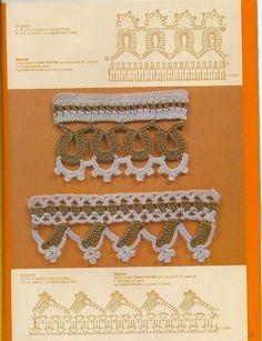 Crochet y dos agujas: 8 puntillas tejidas al crochet (con diagrama y patrón)