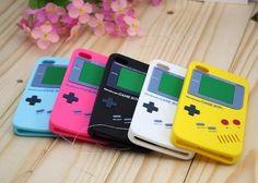 Moda para 5c apple iphone 7 4S 5S se 6 6 s plus case clásico de dibujos animados niño máquina de juego suave de goma de silicona cubierta del teléfono casos