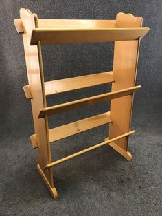 Mid Century Danish Modern Nevco Solid Beach Wood Book Shelf  | 74.99
