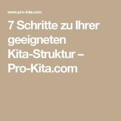 7 Schritte zu Ihrer geeigneten Kita-Struktur – Pro-Kita.com