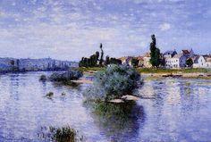 Claude Monet The Seine at Lavacourt (1880) oil