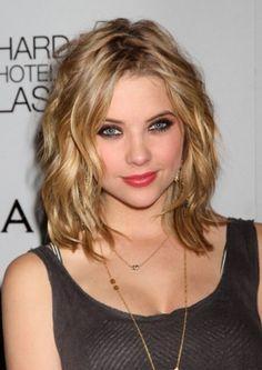 Ashley Benson Medium Wavy Hairstyle with Layers | best stuff