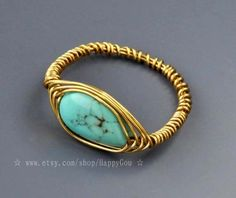 Original manual  the seeds of life  a turquoise ring by HappyGou, $25.99