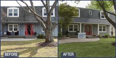 Before & After James Hardie Pearl Gray siding in Naperville Il