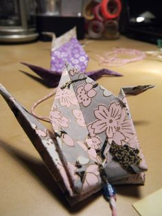 Tutoriel guirlande origami