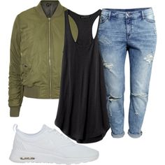 TRENDY TOMBOY by kwasheretro on Polyvore featuring polyvore, fashion, style, Topshop, H&M and NIKE
