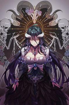 Manga Drawing Albedo - overlord art,so amazing. Manga Anime, Fanart Manga, Anime Demon, Otaku Anime, Anime Fantasy, Fantasy Art, Anime Art Girl, Manga Girl, Anime Style
