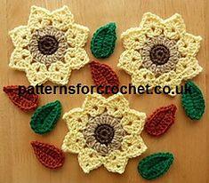 Flower and leaf crochet pattern