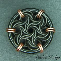 Image result for moorish rose chainmaille tutorial