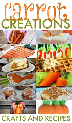 Looking for something fun to create or cook up for Easter? How about think outside the chicks and bunnies and go carrot. These carrot creations are cute, clever and delish.