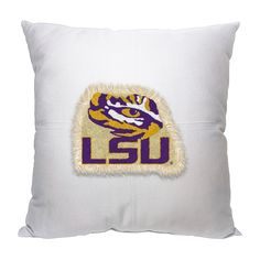 Decorative LSU Tigers Letterman Pillow
