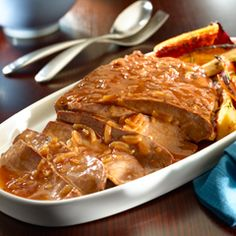 Home-Style Beef Brisket: Super tasty on its own or as a sandwich! #beef #brisket #recipe
