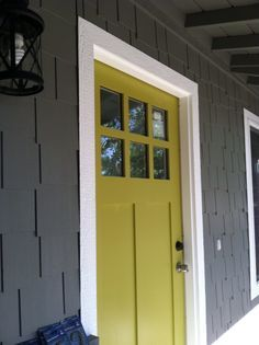 """For the flip... so excited! """"LOVE this green door: Antiquity by Sherwin Williams"""""""