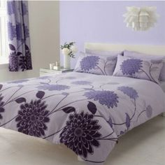 lila Bettwäsche , Bettbezug 140 x 200cm +1x Kissenbezug 50x75 cm Blumenmuster Paisleymuster: Amazon.de: Küche & Haushalt