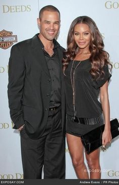 Jason and Crystle on Red Carpet. The are actors on Tyler Perry's For Better or Worse.