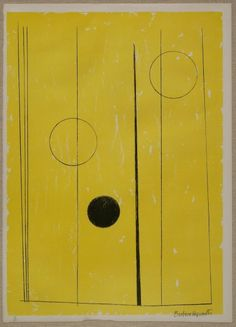 Dame Barbara Hepworth ~ Delos (From The Aegean Suite), 1971 (lithograph on paper) Modern Sculpture, Abstract Sculpture, Metal Sculptures, Bronze Sculpture, Wood Sculpture, Abstract Art, Yellow Art, Mellow Yellow, Brighton Museum