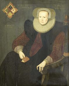 Portrait of a woman, by anonymous, 1603 (Rijksmuseum, the Netherlands).