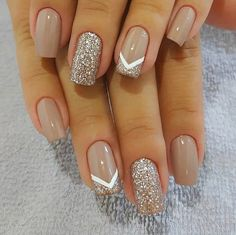 Pin on Nail art Pin on Nail art - nails - Nageldesign Stylish Nails, Trendy Nails, Elegant Nails, Cute Acrylic Nails, Cute Nails, Cute Simple Nails, Wedding Acrylic Nails, Gold Nail Art, Wedding Nails