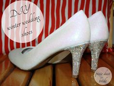 crystal shoes#diy