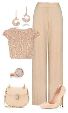 """""""Sin título #1194"""" by marisol-menahem ❤ liked on Polyvore featuring Chopard, Jaeger, Chloé and Monica Vinader"""