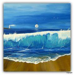 Acryl/Leinwand 50 cm x 50 cm x 1,5 cm Preis auf Anfrage  Lighthouse