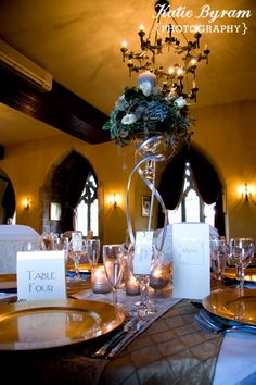 Langley Castle Wedding Northumberland Adam Prest Flowers Simply Bows and Chair Covers By Wendy Bespoke Stationery