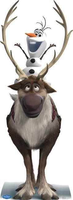 Wallpaper Disney - Sven and Olaf - Frozen Lifesize Cardboard Cutout- Frozen Disney, Olaf Frozen, Disney Frozen Olaf, Disney Pixar, Frozen Movie, Frozen Party, Frozen Birthday, Frozen 2013, Birthday Cake