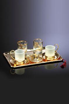 Dream Home 6'lı Kahve Seti Altın KOS01.M15A