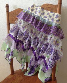 Apron Vintage Hankies Violet n Lilac by BohemianMisfits on Etsy, $36.00
