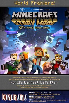 """Telltale Games released some new details of their upcoming adventure game Minecraft: Story Mode. A new trailer has been released for the first episode entitled """"The Order of the Stone."""""""