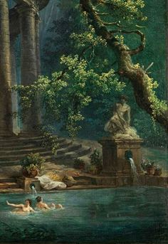 'The Bathing Pool' - Hubert Robert