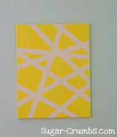 masking tape art @Susannah Colleen this looks like a giraffe