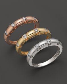 Diamond Ring Set In 14K Yellow Gold, 0.30 ct. | Bloomingdale's