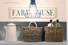 Farmhouse Linen closet via A Bowl Full of Lemons