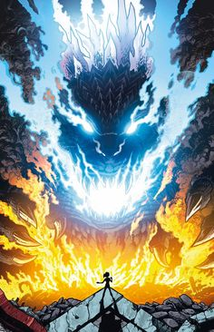 Godzilla Rulers of Earth issue 13 - cover by Kaiju Samurai Godzilla Wallpaper, King Kong, Tableau Star Wars, Godzilla Comics, Aliens, Marvel, Creature Design, Fantasy World, Mythical Creatures