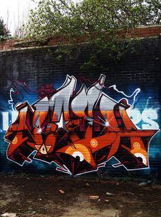 Nash Graffiti Piece, Graffiti Tagging, Graffiti Artwork, Graffiti Murals, Graffiti Lettering, Street Art Graffiti, Graffiti Writing, Typography, Wildstyle