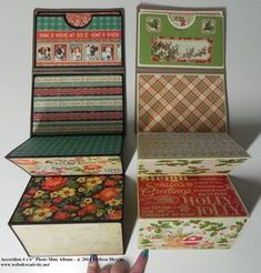 """I came up with this really cute and super fast project, which, I think would make great Christmas gifts. It's called Accordion 4 x 6"""" Mini ..."""