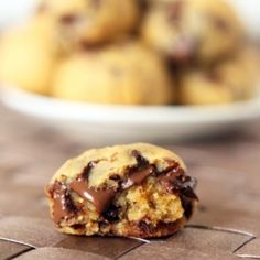 Secret ingredient peanut butter chocolate chip cookie dough bites. Gluten and grain free.