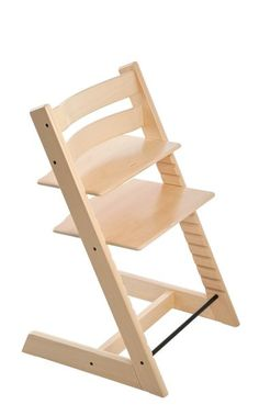 Highchair by Scandinavian designer Peter Opsvik. A comfortable and ergonomic chair that grows with your child, from newborn baby to adult. Made of beech wood.