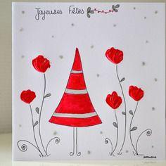 carte anniversaire illustration fleurs peinte la main carte de voeux originale illustrations. Black Bedroom Furniture Sets. Home Design Ideas