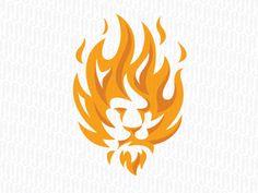 FireLion by Jerron Ames - Dribbble … Lion Design, Animal Design, Design Art, Graphic Design, Logo Lion, Fire Lion, Lion Art, Logo Concept, Animal Logo