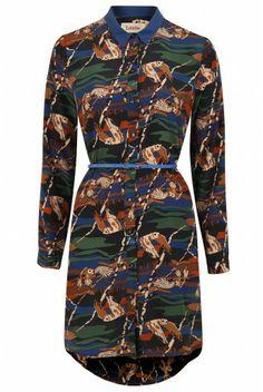 Louche Byron Owl Shirt Dress
