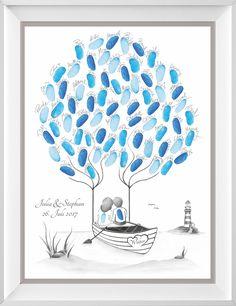 Fingerabdruck Baum & Wedding Tree zur Hochzeit - Fingerabdruckbaum & Wedding Tree