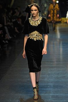 The Terrier and Lobster: Dolce & Gabbana Fall 2012: Priests, Ex Votos, Gilt, Cherubs, Needlepoint, and Baroque Painting