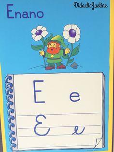 """Vocal """"e"""" en sus cuatro formas."""